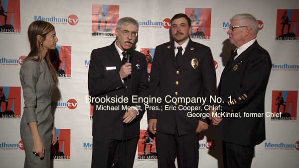 Brookside Engine Company accepting award